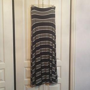 Gap navy & gray strapless dress
